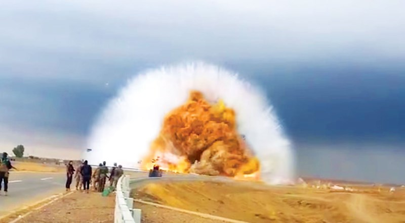 the best shockwaves and explosions collected from all around the internet to be brought to one place for your enjoyment. The cover photo is an explosion and accompanying shockwave in the foreground with bystanders looking on from the road.