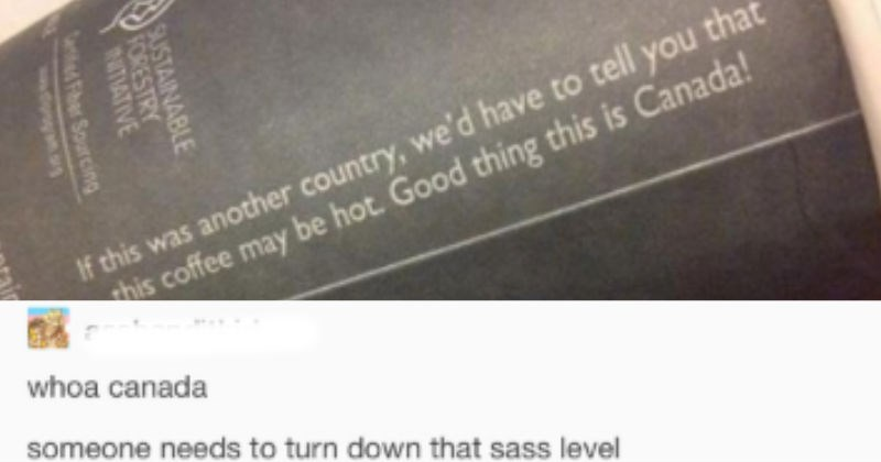 Tumblr discusses the McDonald's hot coffee case | If this another country have tell this coffee may be hot. Good thing this is Canada! whoa canada someone needs turn down sass level