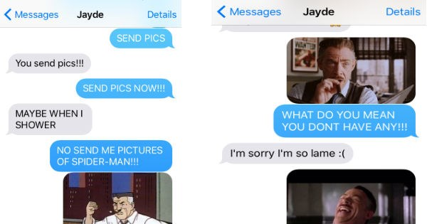 hilarious texting Spider-Man win dating - 1030149