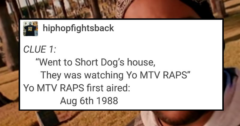 "Tumblr user runs the math on what the exact day for Ice Cube's ""Good Day"" was 