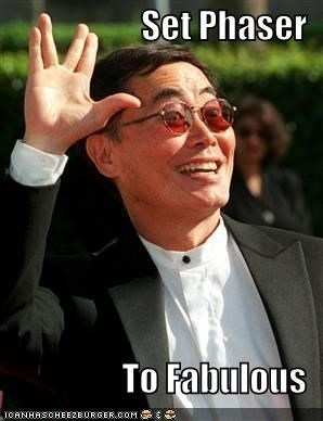 faaaaabulousness,george takei,sci fi,Star Trek,sulu,the ghey