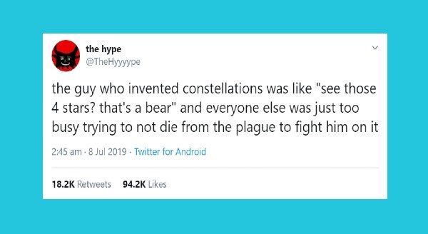"""The Guy Who Invented..."" Tweets 
