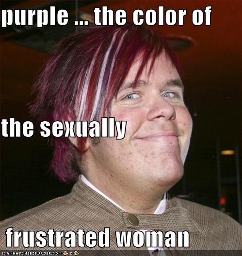 purple the color of the sexually frustrated woman cheezburger