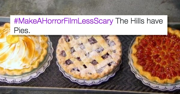 turning the horror movie the hills have eyes less scary by making it about pies