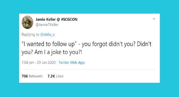 The Real Meaning Behind Corporate Catchphrases | tweet by Jamie Keller SCGCON @Jamie7Keller Replying delia_p wanted follow up forgot didn't Didn't Am joke