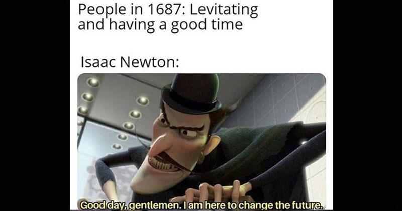 """Funny dank memes entitled from the movie 'Meet the Robinsons,' entitled, """"Good Day Gentlemen, I am here to change the future"""" animated man with a mustache dressed in a cape and a black top hat 