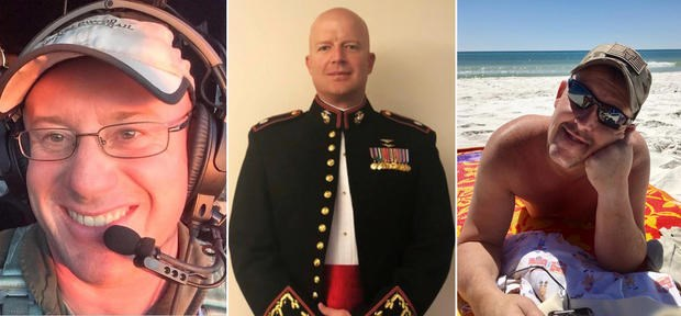 koalas rescue firefighters australia american crash fires bushfires rescued honoring news sad heartbreaking | photos of three men who perished while on duty in australia one wearing a headset one in a military jacket and one on the beach