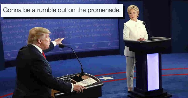 donald trump debate Hillary Clinton Memes politics - 1051653