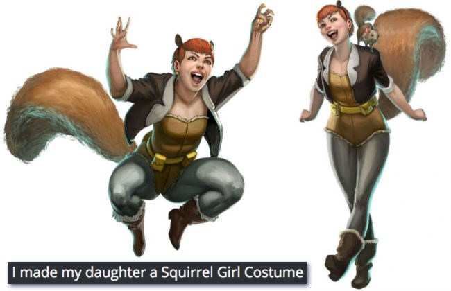 costume list halloween cute squirrels superhero daughter win Father DIY - 1053189