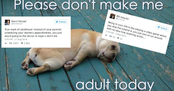 twitter adulting relatable sad but true adulthood