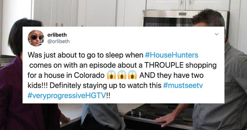 "People on Twitter react to HGTV's ""House Hunters"" episode with a throuple on it 