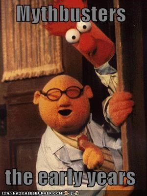 beaker dr-bunsen-honeydew Hall of Fame muppets mythbusters - 1060358400