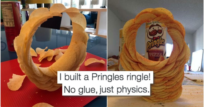 twitter physics wtf list challenge pringles food Video - 1063173