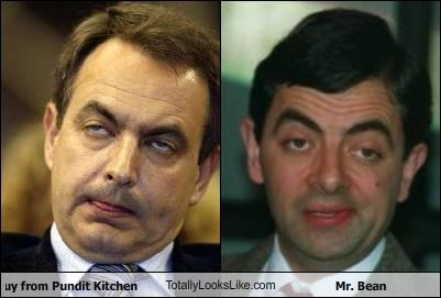 Jose Luis Rodriguez Zapatero,mr-bean,politics