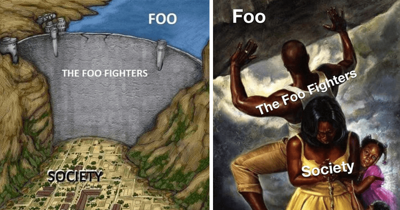 funny memes about the foo fighters fighting foo, dank memes, fresh memes, rock and roll
