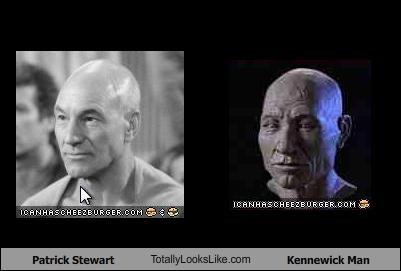 actor bust kennewick man patrick stewart picard prehistoric Star Trek TV - 1067231488