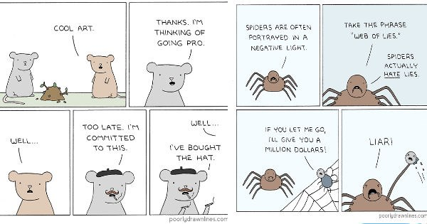 poorly drawn lines funny wordplay web comics