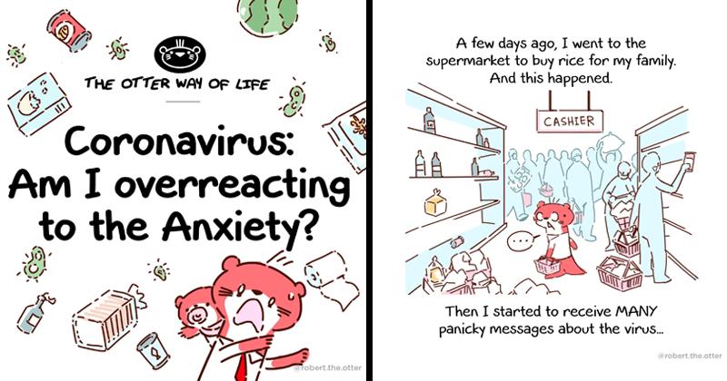 Educational comic about the anxiety surrounding the coronavirus pandemic.