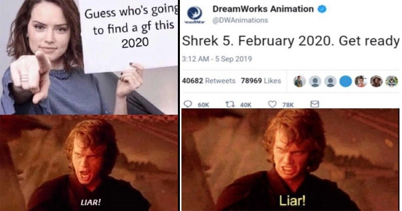 "Funny dank memes from Star Wars prequkes where Anakin Skywalker yells, ""Liar!"" 