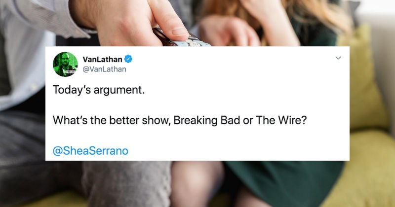"Twitter users debate whether ""Breaking Bad"" or ""The Wire"" is a better show 