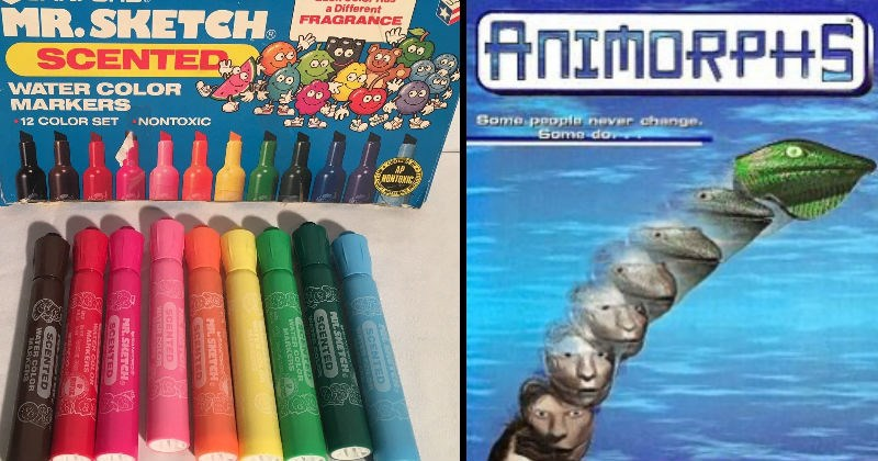 Nostalgic toys and products from the 80s and 90s | ANIMORPHS Some people never change. Some do | 12 COLOR SET SANFORD. Each Color Has Different FRAGRANCE MR.SKETCH. SCENTED US. WATER COLOR MARKERS 12 COLOR SET NONTOXIC AP NONTOXIC SCENTED MR. SKETCH SCENTED SCENTED COLOR