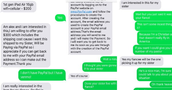craigslist spammer texting funny win - 1081605
