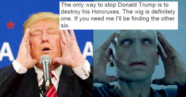 Harry Potter,donald trump,horcrux,fan theory,funny,politics