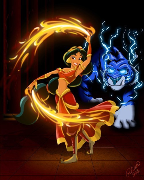 Disney characters as avatar element benders