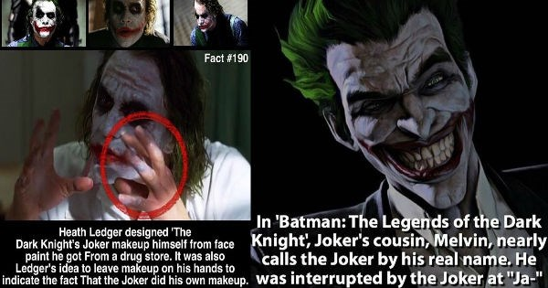 joker facts DC villains batman heath ledger - 1089285