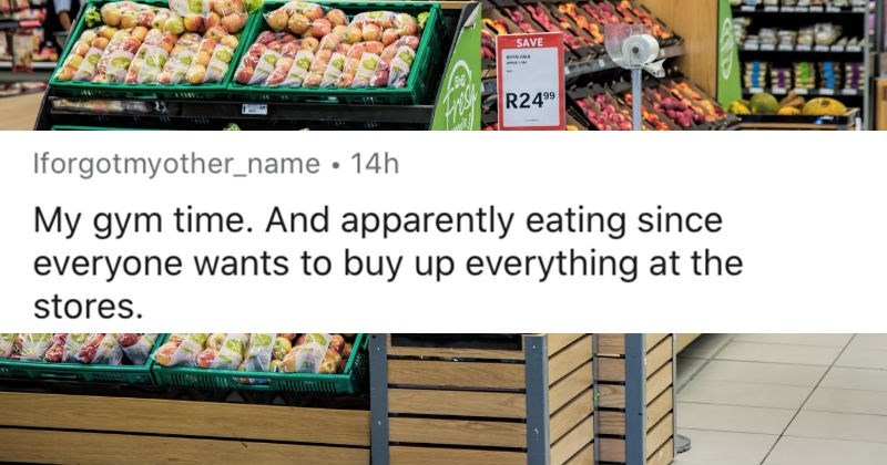 People share the various plans that they cancelled in response to the Coronavirus outbreak | reddit posted by Iforgotmyother_name 14h My gym time. And apparently eating since everyone wants buy up everything at stores. pic of a grocery store