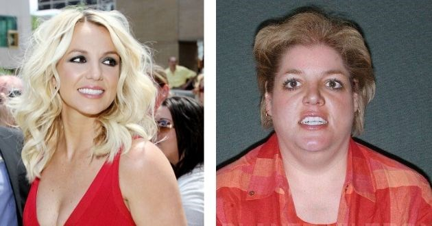 celebrity lookalike funny Instagram makeunder celeb famous realistic ordinary | britney spears as a middle aged overweight normal woman