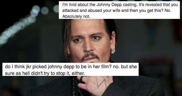 twitter news Harry Potter jk rowling reactions Johnny Depp