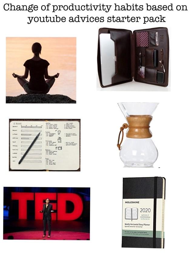 "top starter pack memes | ""Unrealistic Desk Space Adverts"" starter pack."
