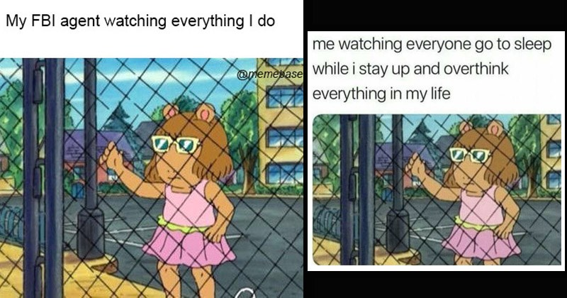 "Funny dank memes from the kids' show 'Arthur' entitled, ""D.W. Holding Fence"" 