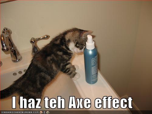 I haz teh Axe effect