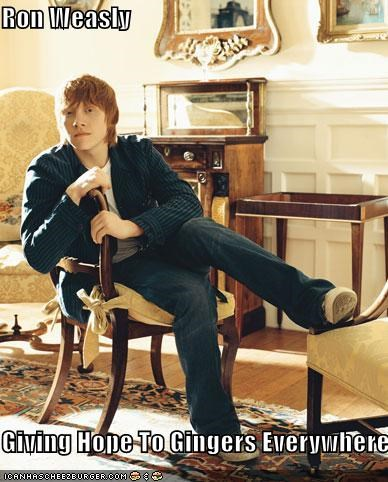 Harry Potter redheads are hot Ron Weasley rupert grint sci fi - 1103697664
