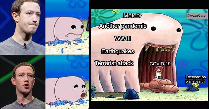 "Funny dank memes from Spongebob entitled, ""Sandy vs. Alaskan bull worm"" 