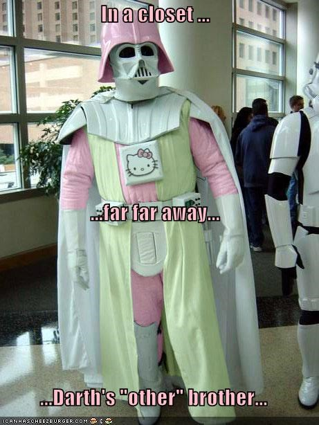 darth vader hello kitty Hello Kitty Vader nerdherd you must be joking - 1107153664