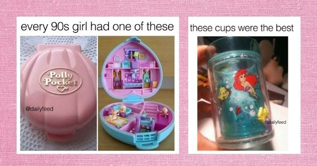 1990s items throwback memories facebook 90s kids toys childhood | every 90s girl had one these Polly Pocket @dailyfeed | these cups were best @dailyfeed the little mermaid