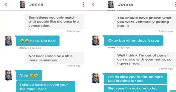 funny tinder convo