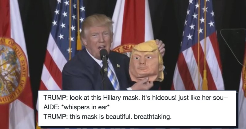 list donald trump mask Memes politics - 1116421