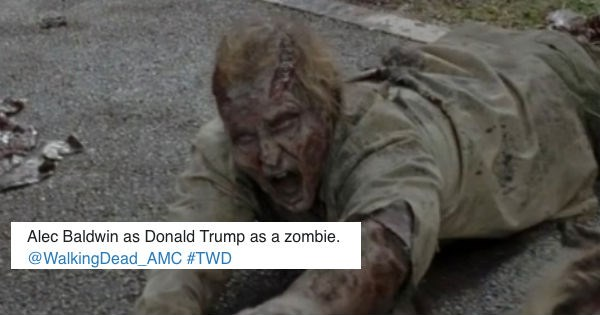 this walking dead zombie looks like donald trump