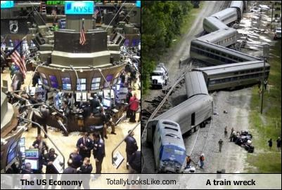 The US Economy TotallyLooksLike.com A train wreck