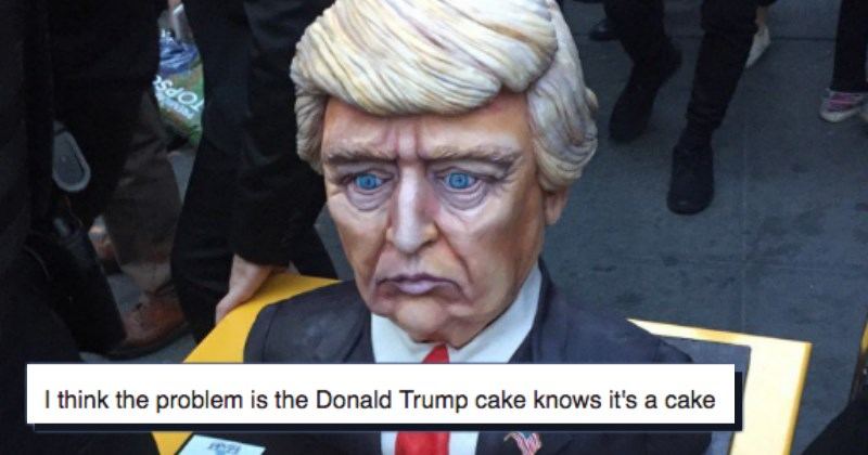 creepy donald trump cake
