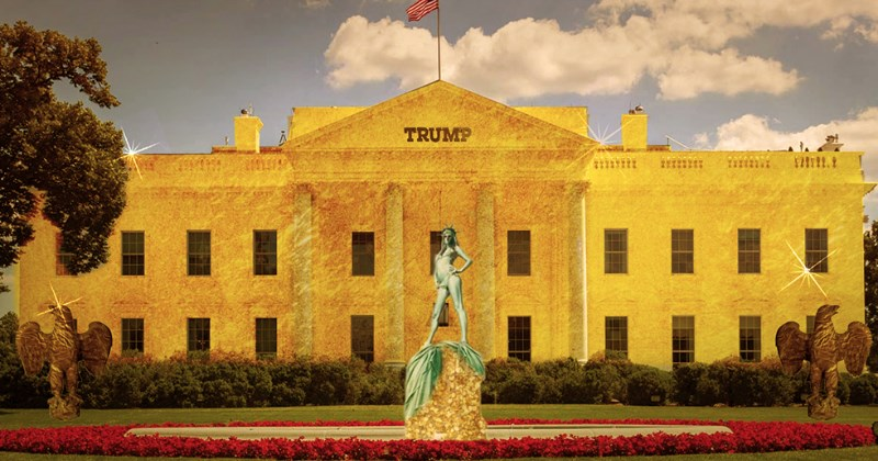 donald trump White house president photoshop battle