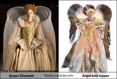 Queen Elizabeth TotallyLooksLike.com Angel tree topper