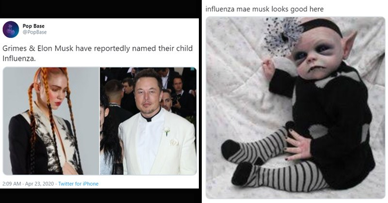 """Funny Twitter reactions to Grimes and Elon Musk supposedly naming their baby """"Influenza"""" 