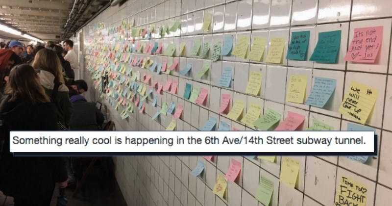 twitter,post its,Subway,election,win,new york city