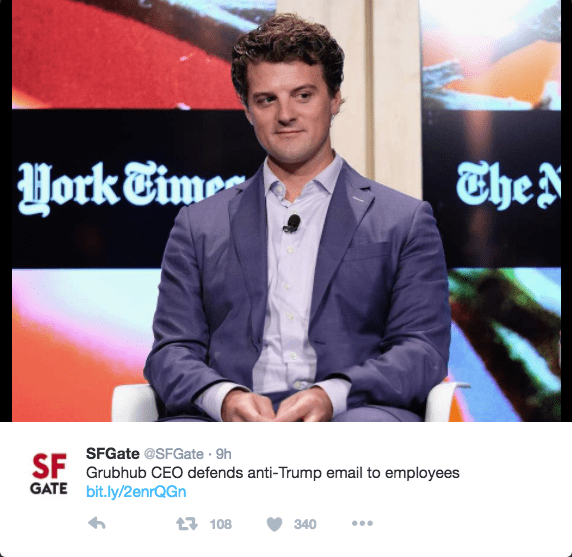 twitter,donald trump,grubhub,boycott