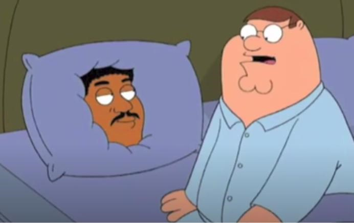 funny list of gifs | family guy pillow flipping to the other side face on it gif